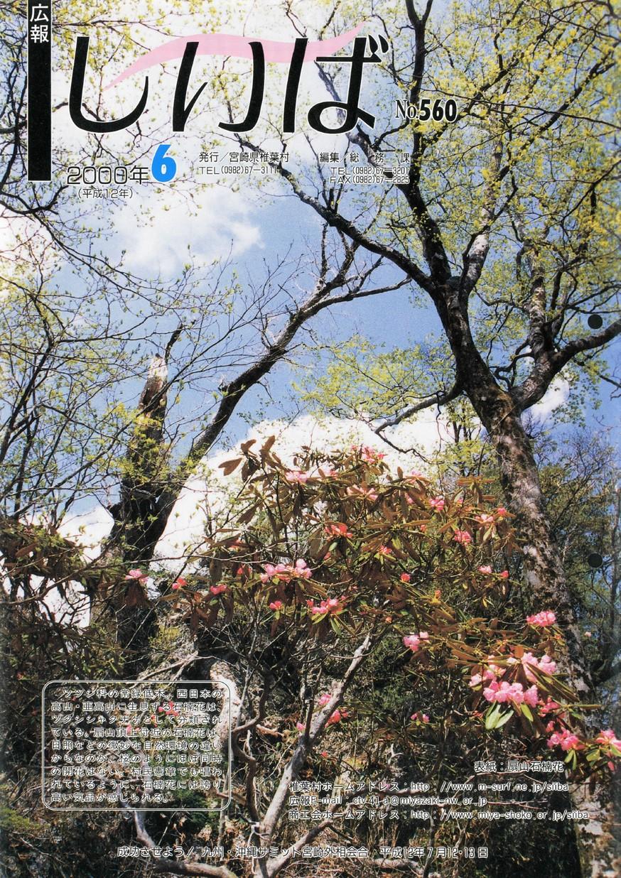 広報しいば 第560号 2000年6月発行の表紙画像